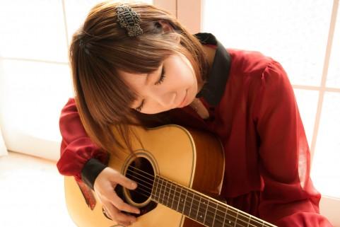 自宅でのギター練習